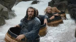 The Hobbit Dwarves in Barrels