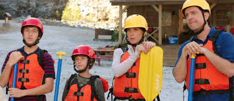 Vacation white water rafting